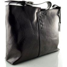 Silvercase Sněžka Náchod kožená kabelka se zdobným prošíváním černá 393870eb470