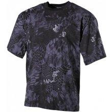 MFH maskáčové tričko vzor snake black 170g/m2