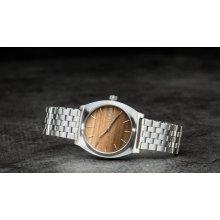 Nixon Time Teller Wood/ Silver