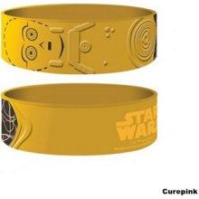 Náramek silikonový Star Wars C-3PO pískový šířka WR67200 CurePink