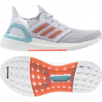 Běžecké boty Adidas Performance ULTRABOOST 20 Primeblue W Světle šedá / Oranžová / Aqua