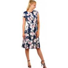 890 Kč Prima Butik. Dámské letní retro šaty s květinami 336991 tmavě modrá 42cf5688b5