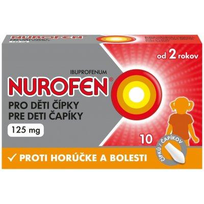 Nurofen pro děti čípky 125 mg rct.supp. 10 x 125 mg — Heureka.cz