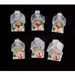 TFY NO34939 Vánoční LED dekorace Domek, 6ks, barevná
