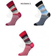 Boma PRUHANA protiskluzové ABS ponožky mix barev 1