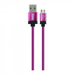 Yenkee YCU 201 BPE propojovací USB 2.0 A -> micro USB B, 1m, fialový