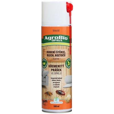 AgroBio KP bioATAK Křemenitý prášek ve spreji k hubení štěnic, blech, mravenců, roztočů 500 g 002165
