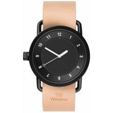 TID Watches No.1 Black/ Natural Wristband