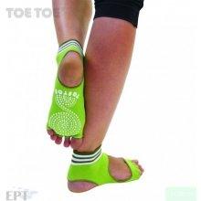 9fda801f518 ToeToe HEEL bezprstové joga ABS protiskluzové ponožky zelená