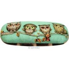 Santoro London pouzdro na brýle - Book Owls