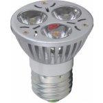 KGM LED žárovka bodová 3W E27 DS-1006 Teplá bílá náhrada za žárovku 25W