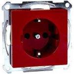 SCHUKO zásuvka 230V, System M, červená MTN2300-0306