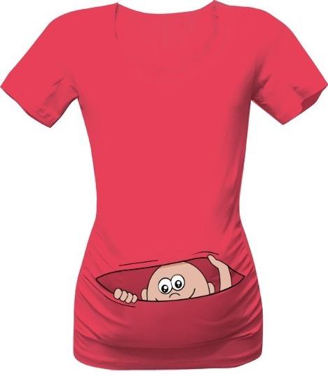 d8f99a271a0 T-shock tričko s potiskem Mimino v kapse růžová