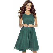Kartes Moda šaty dámské KM227-5 šifon tmavě zelená ede550e03b