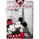 Jerry Fabrics Povlečení Mickey and Minnie v Paříži 140x200 70x90
