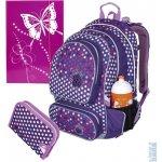 Topgal Školní batoh CHI 708 I purple + penál CHI 727 I + heftbox 3-756 + lahev na pití TOP 139 +