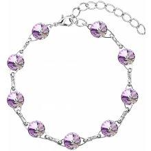 Evolution Group náramek bižuterie se Swarovski krystaly fialový 53001.5