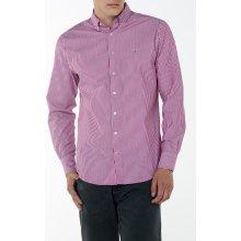 Gant pánská košile O1. TECH PREP TWILL STRIPE Slim BD fialová 25d9ca49b6