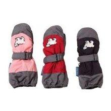 8a265c47fc8 Nickel Sportswear Dětské zimní rukavice palčáky prodloužené Medvídek 95070  červená