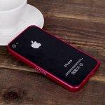 Pouzdro LOVE MEI tl. 0,7 mm Apple iPhone 4 / 4S - tmavě růžové