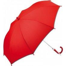 Fare Dětský holový deštník s reflexním lemem červený