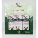 OlivAloe ® Natural cosmetics Šampon na vlasy + Sprchový gel + Peelingový gel 3 x 90 ml dárková sada
