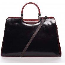 dámská kožená kabelka Anna černo-červená 0946cd1747