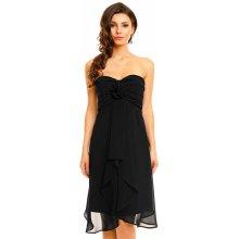 Mayaadi dámské společenské šaty středně dlouhé černá 41b64e2f34