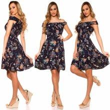a23d9feb832a KouCla květované šaty Lesley námořnická