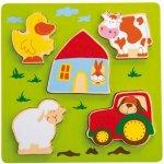 SIGIKID PLAY Q Dřevěné vkádací puzzle farma