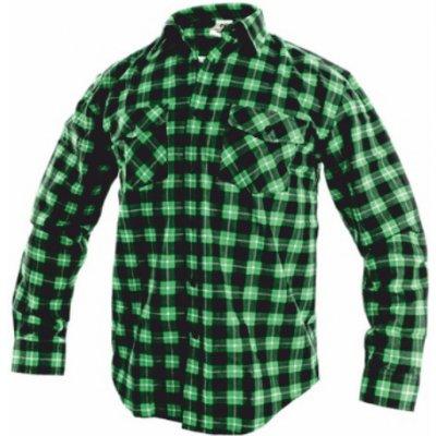 Canis CXS tom flanelová košile zelená