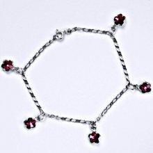 Swarovski krystaly fuchsia, kytičky, R 1297