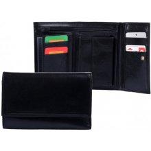 HELLIX Dámská kožená peněženka P-802 černá