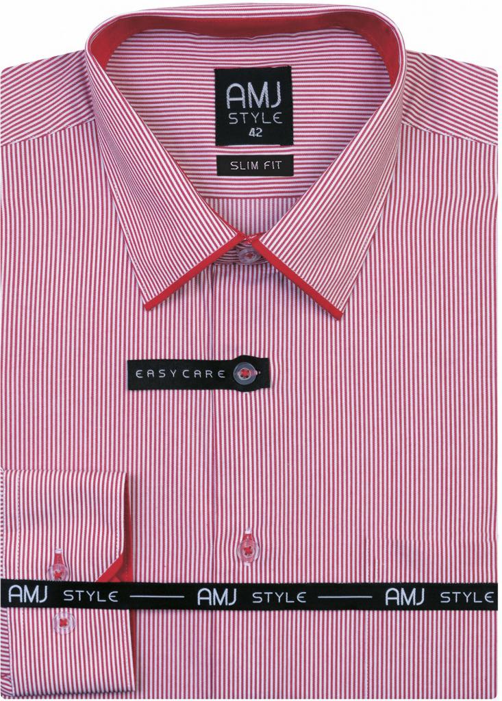 AMJ Style Slim pánská košile dlouhý rukáv od 890 Kč - Heureka.cz 6eed78359f