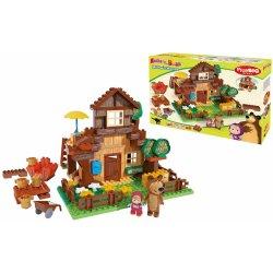 PlayBIG Bloxx Máša a medvěd s horským domčekom 162 ks