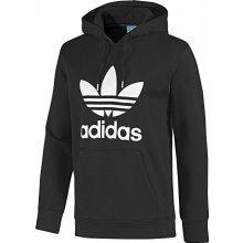 Adidas ADI Trefoil mikina s kapucí Kapuzenpullover Black White