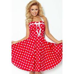 Numoco retro šaty s puntíky 30-14 červená dámské šaty - Nejlepší Ceny.cz 562d055ec6