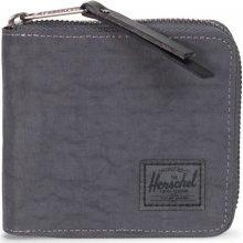 HERSCHEL Peněženka na zip Walt tmavě šedá lesklá + coin