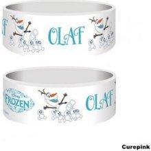Náramek silikonový Frozen Olaf bílý šířka WRJR6767227 CurePink
