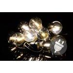 Garthen Zahradní párty osvětlení LED - skleněné žárovky - 5 m teple bílá D40613