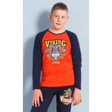 Vienetta Kids Dětské pyžamo dlouhé Viking Červená