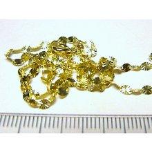 Náramek zlatý vzorovaný dámský silný ze žlutého zlata H139