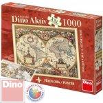 Dino Puzzle Historická mapa XXL aktiv + plakát 1000 dílků
