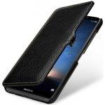 Pouzdro StilGut® kožené Book Type s klipem Huawei Mate 10 Lite černé
