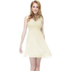 771ea65403d0 Béžové krátké koktejlové šaty na jedno rameno svatební či na ples ...