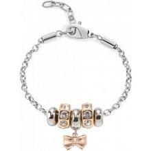 Morellato náramek Drops Rose Gold Bow SCZ455