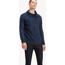 Tommy Hilfiger pánský žíhaný svetr Basic modrý