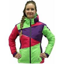 Blizzard Viva Performance Ski jacket purple grenadine lime zelená