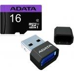ADATA Premier microSDHC 16GB Class 10 + adaptér + USB čtečka v3 AUSDH16GUICL10-RM3BKBL