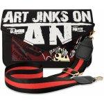 Listonoška kabelka Graffiti černá
